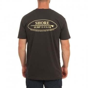Shore Local Surf Club Tee Coal