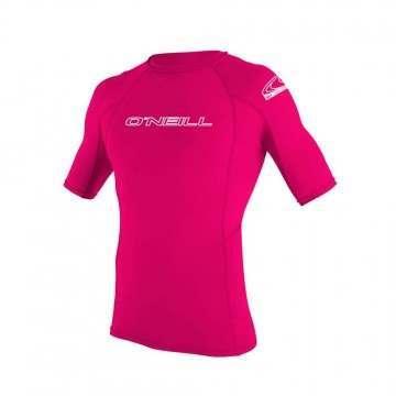 ONeill Kids Basic Skins Short Sleeve Rash Vest Wat