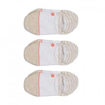 Stance Invisible 3 Pack Socks White