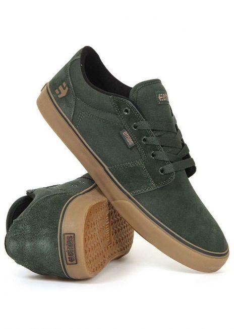 Etnies Barge LS Shoes Green/Gum