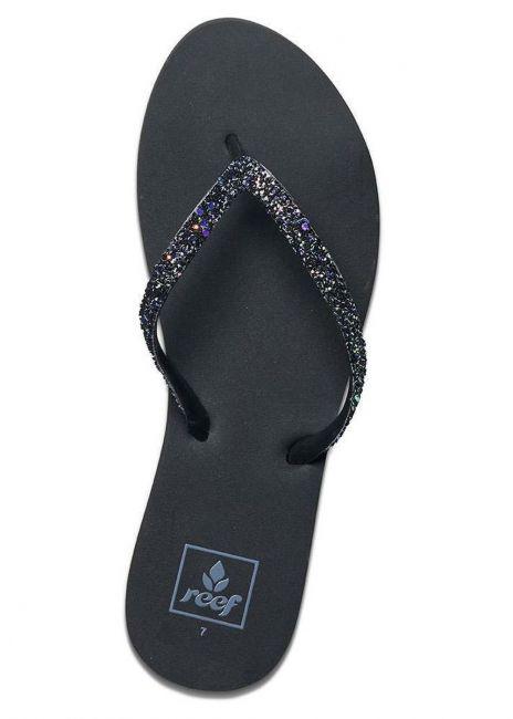 Reef Black Stargazer Women's Flip Flops in Pop Rocks Size 8