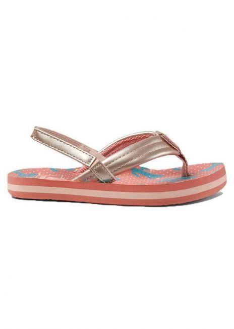 REEF Little Ahi Cactus Girls Kids Flip Flops Sandals