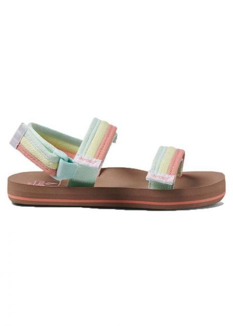 Sandals Rainbow Flip Flops REEF Kids Girls Little Ahi Convertible