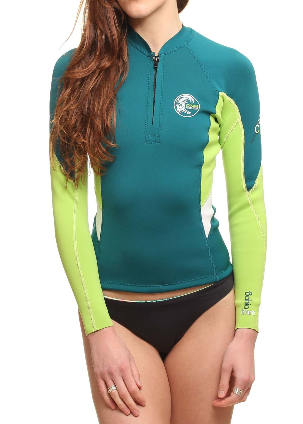 Oneill Womens Bahia Front Zip Wetsuit Jacket Teal Picture