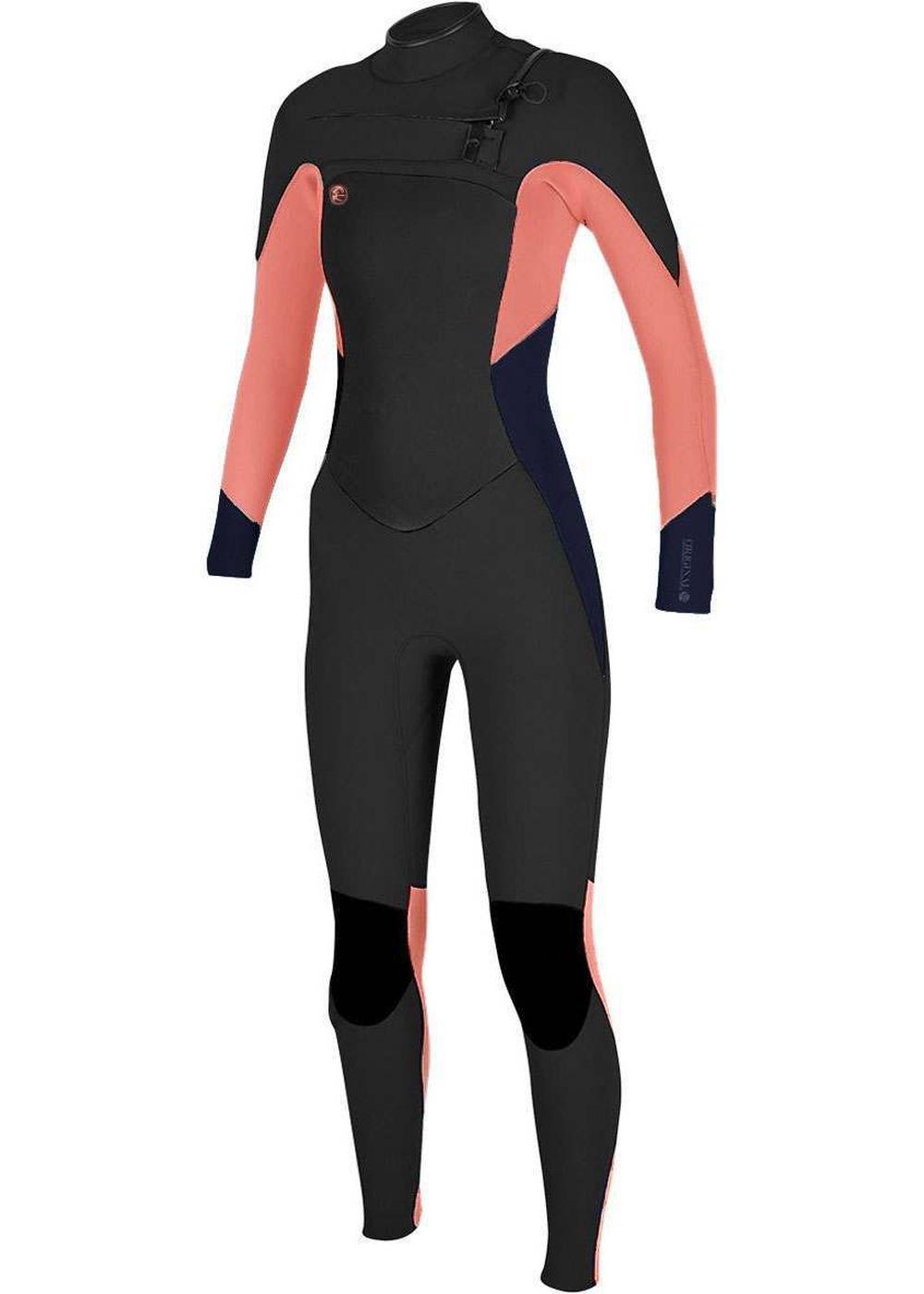 Oneill Womens Original Fz 4/3 Wetsuit 18 Blk/slt Picture