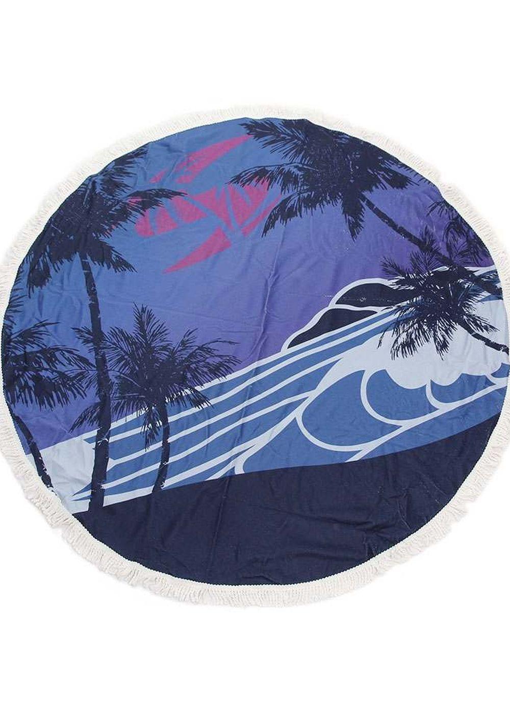 Sola Round Beach Towel Blue