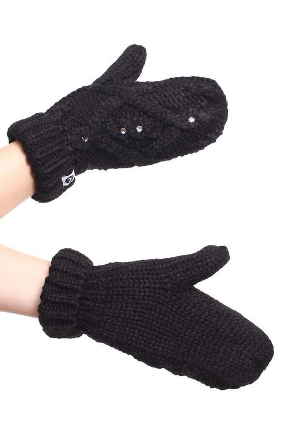 ROXY SHOOTING STARS MITTENS Anthracite